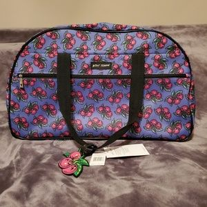 Betsey Johnson cherry rolling duffle bag 🍒